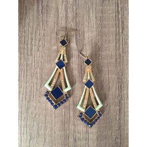 Navy & Mint Earrings